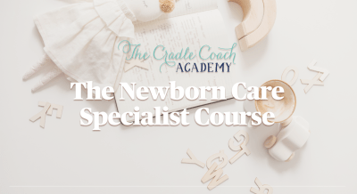 Banner for The Newborn Care Specialist Course at The Cradle Coach Academy