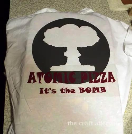 Custom T-Shirt Using Heat Transfer Vinyl DSCF2320