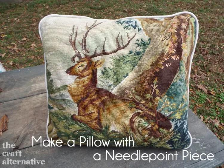 Make a Pillow with a Needlepoint Piece DSCF2349