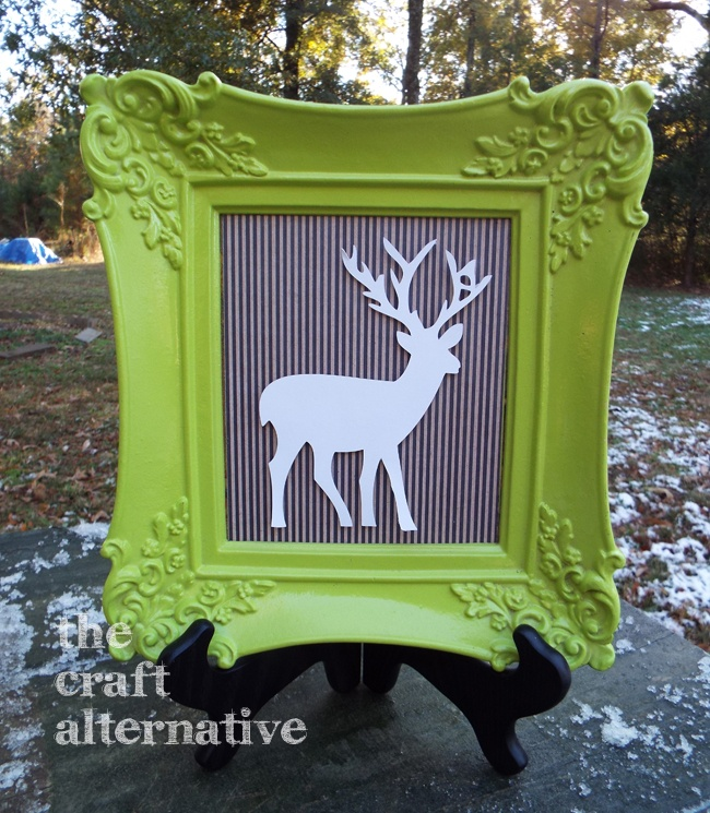 Framed Deer Wall Art_Lime