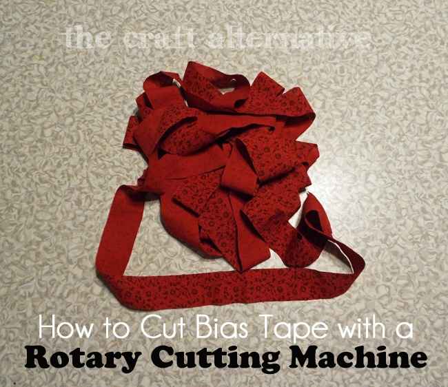 How to Cut Bias Tape with a Rotary Cutting Machine