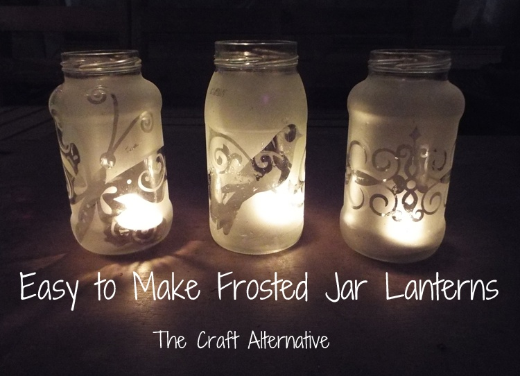 Easy to Make Frosted Jar Lanterns