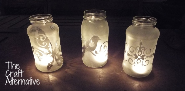 Easy to Make Frosted Jar Lanterns_Trio