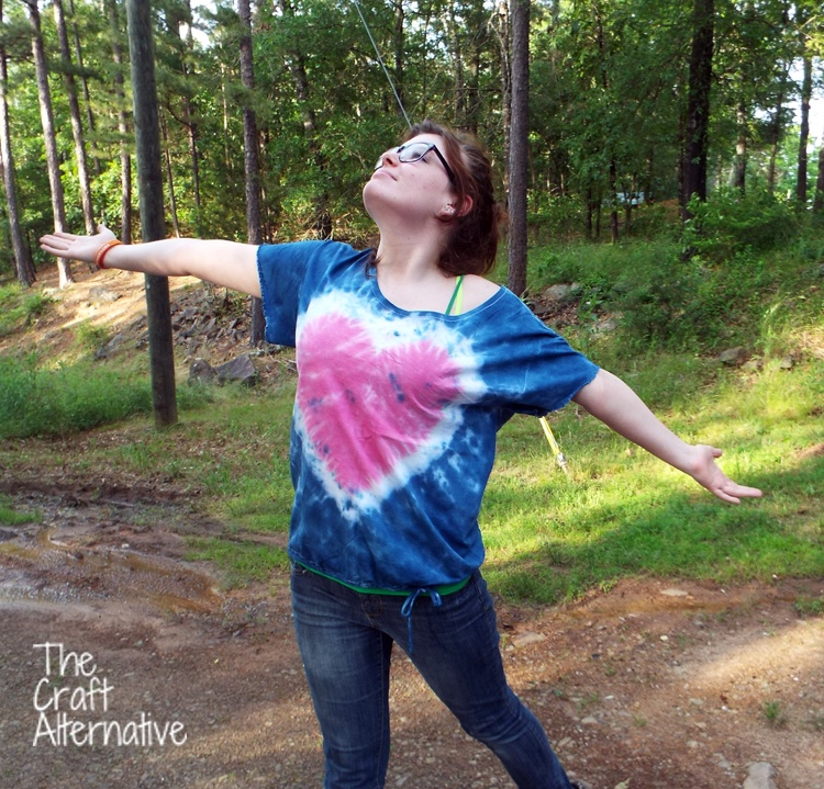 Refashioned and Tie-Dyed T-Shirt_Front