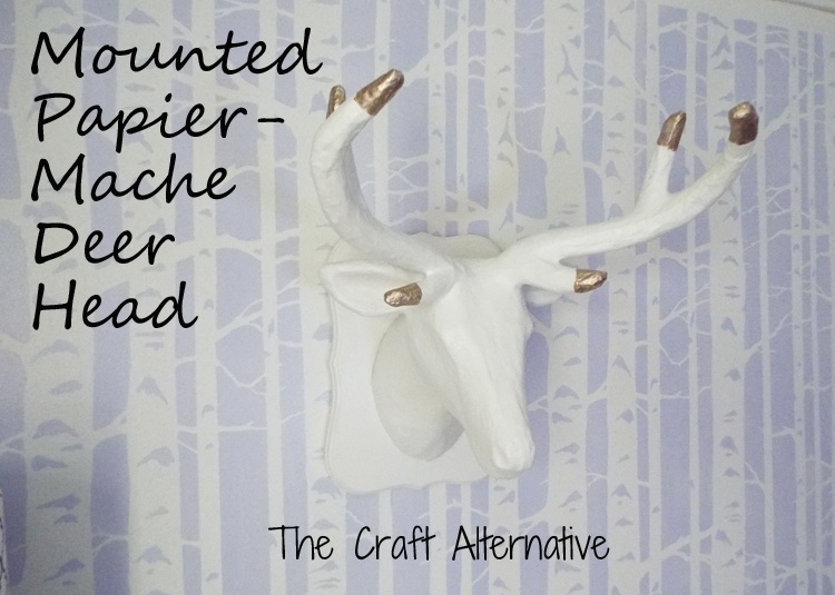 Papier-Mache Deer Head Mounted on an MDF Plaque_Featured