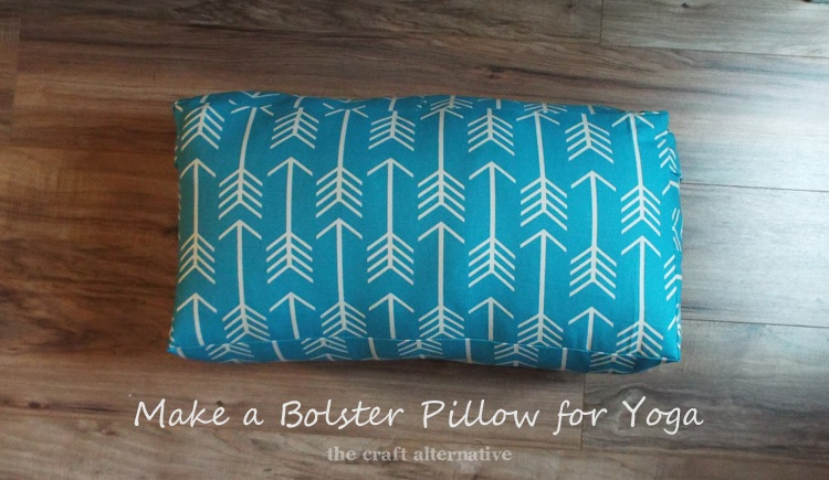 easy to make bolster pillow for yoga