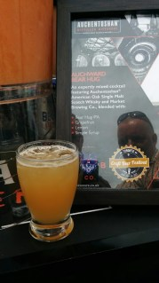 A potent and tasty mix of Auchentoshan American Rye, and Market Brewing Bear Hug IPA. Leaves a kick, for sure!