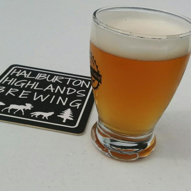 Skipping Stone Kölsch from Halliburton Highlands Brewing. Smooth, German-style summer beer. 5% ABV.