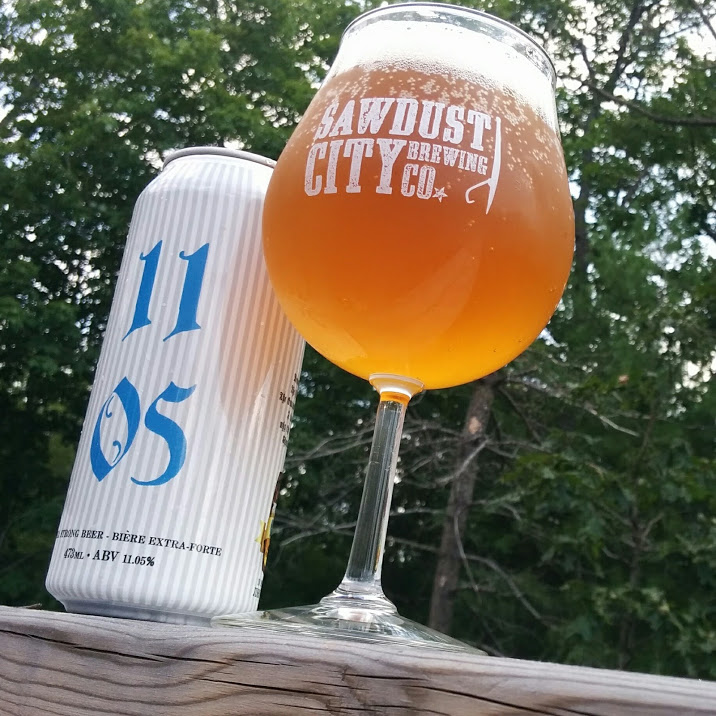 The 1105 Tripel from Sawdust City Brewing Co is a potent and very drinkable Belgian Ale, mixing fruit, malt, and spice to deliver a lasting taste.