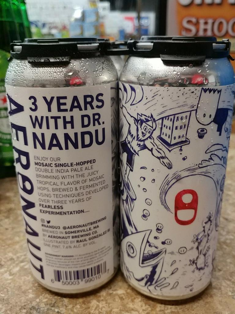 3 Years with Dr. Nandu is a fantastic Double IPA. The biggest drawback is the limited release, so if you do find this, make sure you stockpile some!