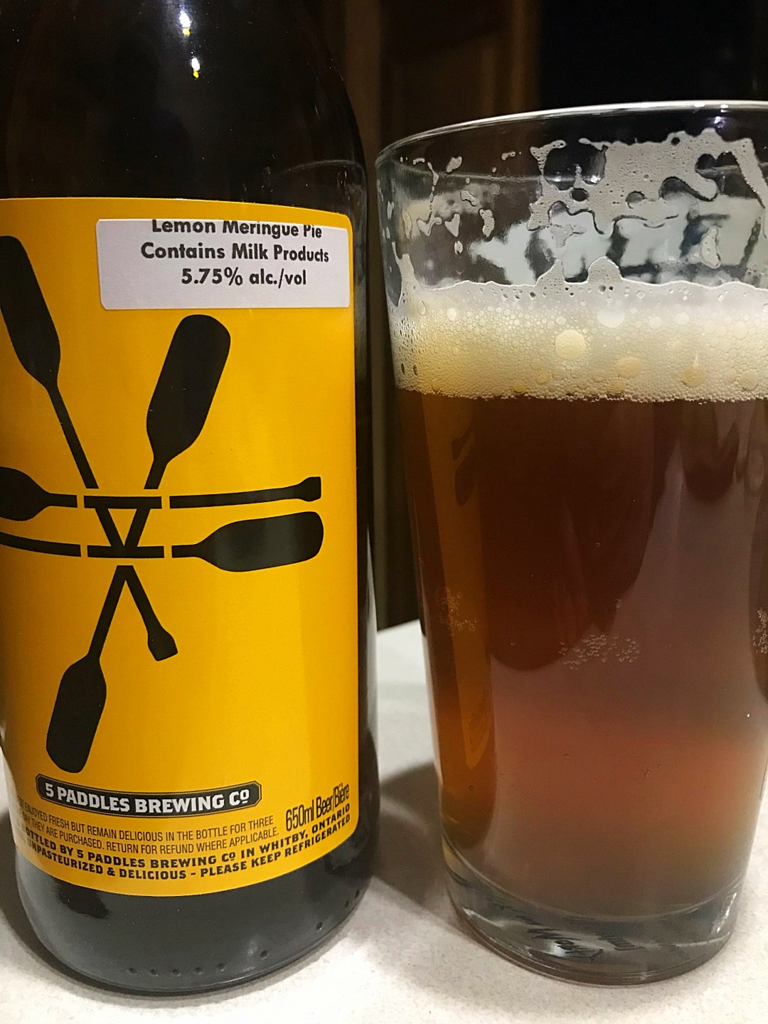 This Lemon Meringue Pie sour ale from 5 Paddles Brewing Co would be an excellent introduction to Craft Beer for those who are generally adverse to beer.