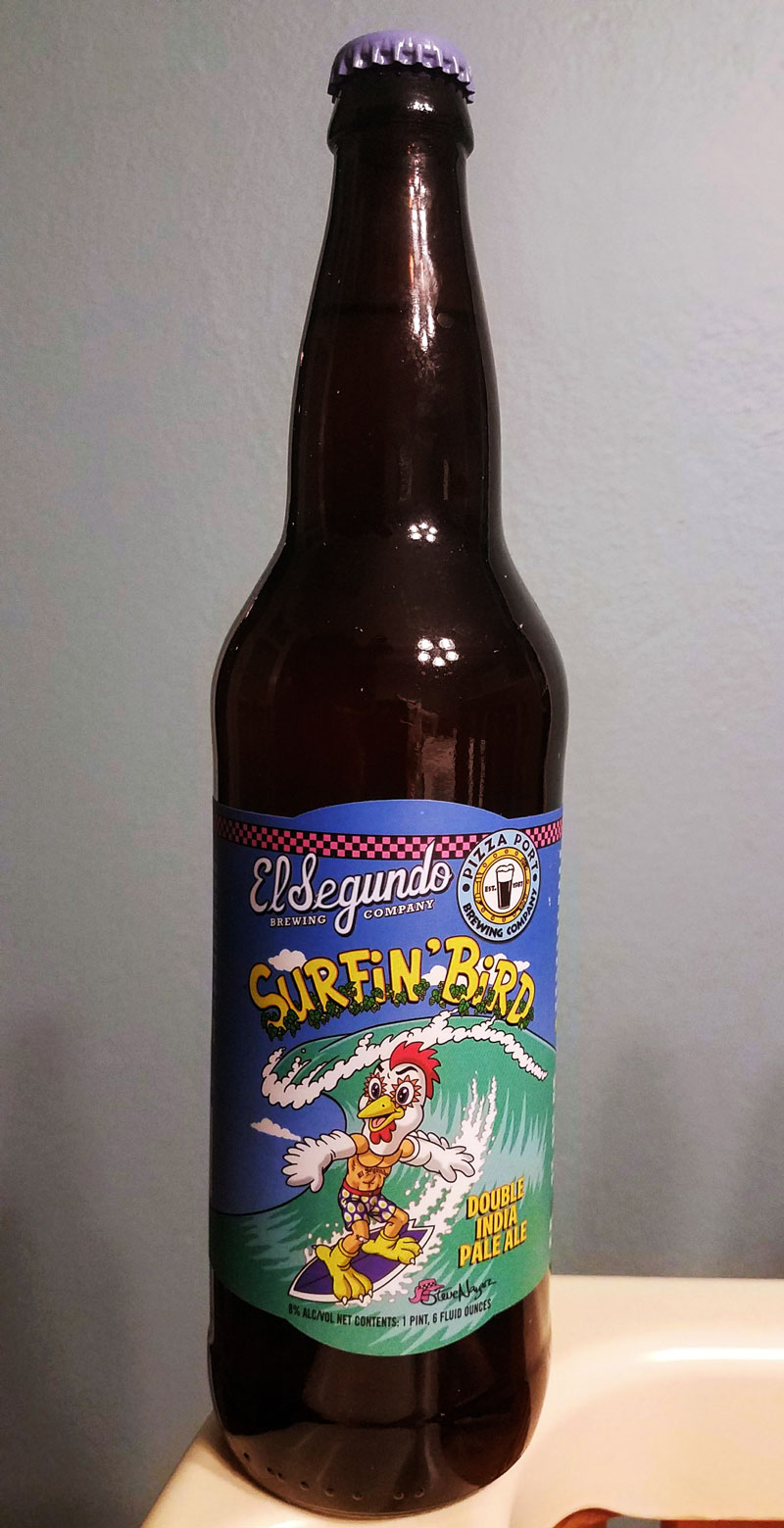 Surfin Bird by El Segundo Brewing has joined the ranks of my Top 5 DIPAs. Incredibly clean and crisp, this can appeal to hop newcomers and hopheads alike. Click through for the full review.