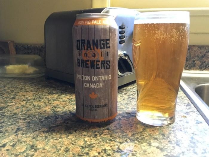 Orange Snail Iron Pig pale ale