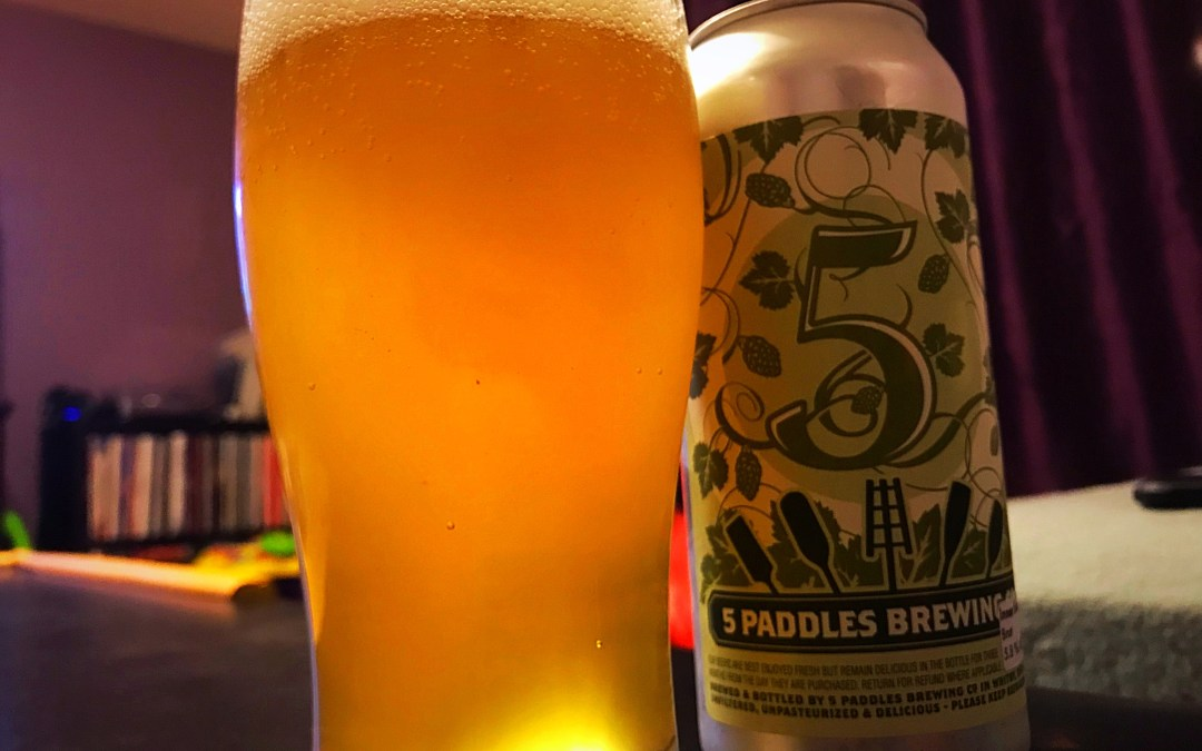 Review: Inner Sunset Brut IPA by 5 Paddles Brewing Company
