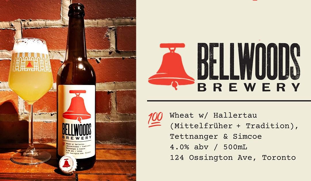 Bellwoods Brewery: 100% Wheat Pale Ale W/ Hallertau (Mittelfruher + Tradition), Tellnanger & Simcoe
