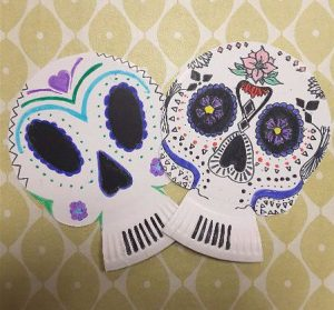 Sugar skulls/day of the dead skulls