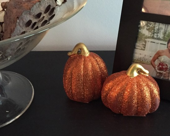 Sparkly Dollar Tree Pumpkins