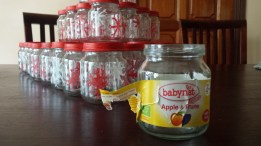 Once filled with suspicious looking mush, these baby food jars have undergone a makeover!