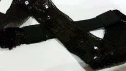 A bedazzled hairband that got to loose to wear