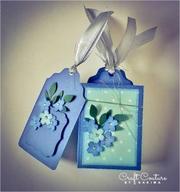 Set of 4 Gift Tags - Blue