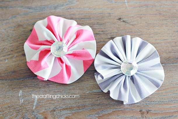 Easy Ruffle Fabric Flowers   The Crafting Chicks     ruffle fabric flowers fabric flowers