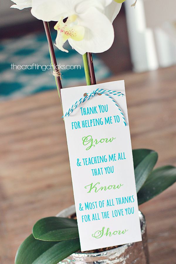 Plant Teacher Gift Idea Free Printable Poem The