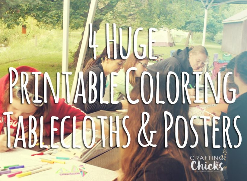 Printable Coloring Tablecloths and Posters   The Crafting Chicks coloring posters and tablecloths  We took large coloring pages