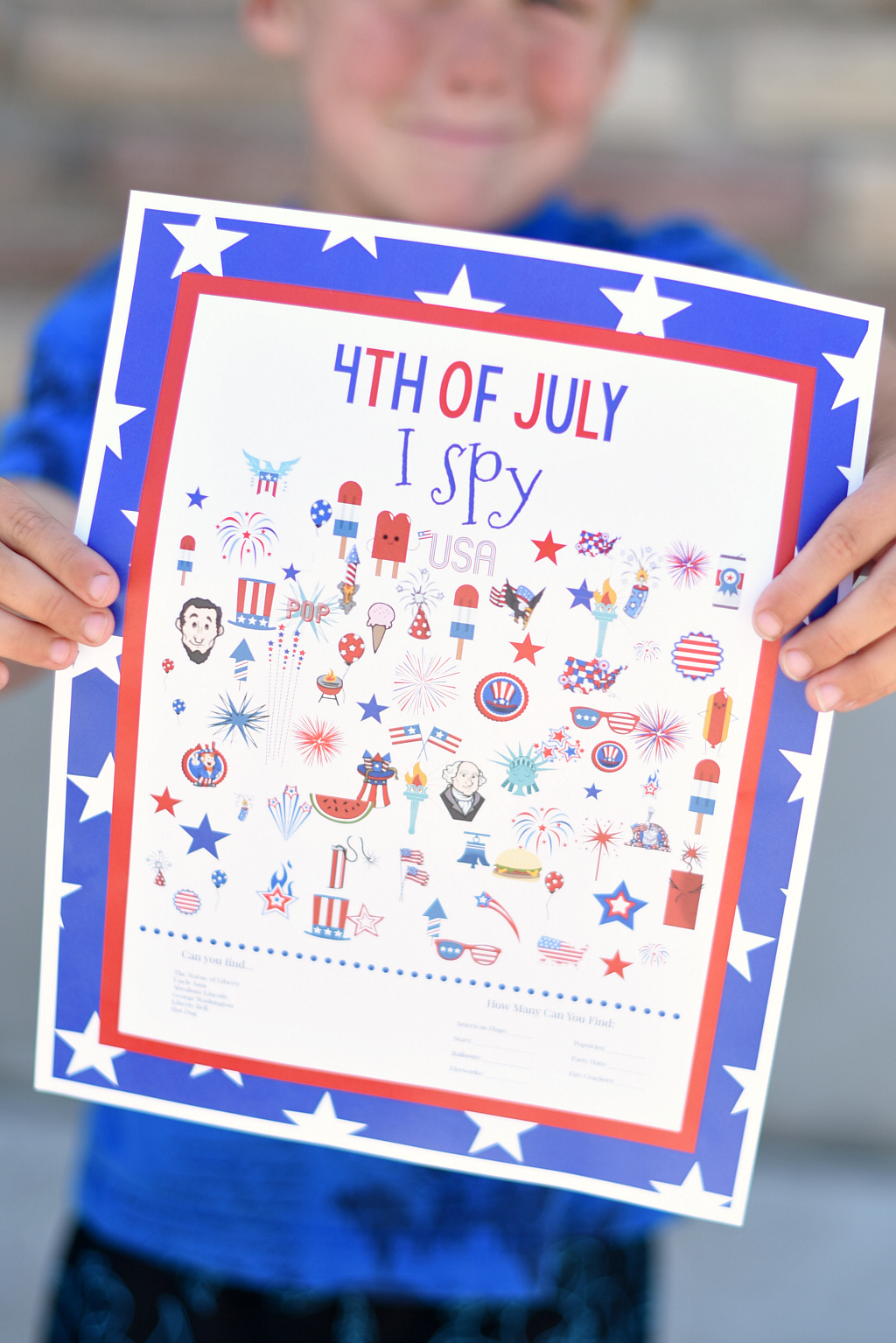 4th Of July I Spy Game