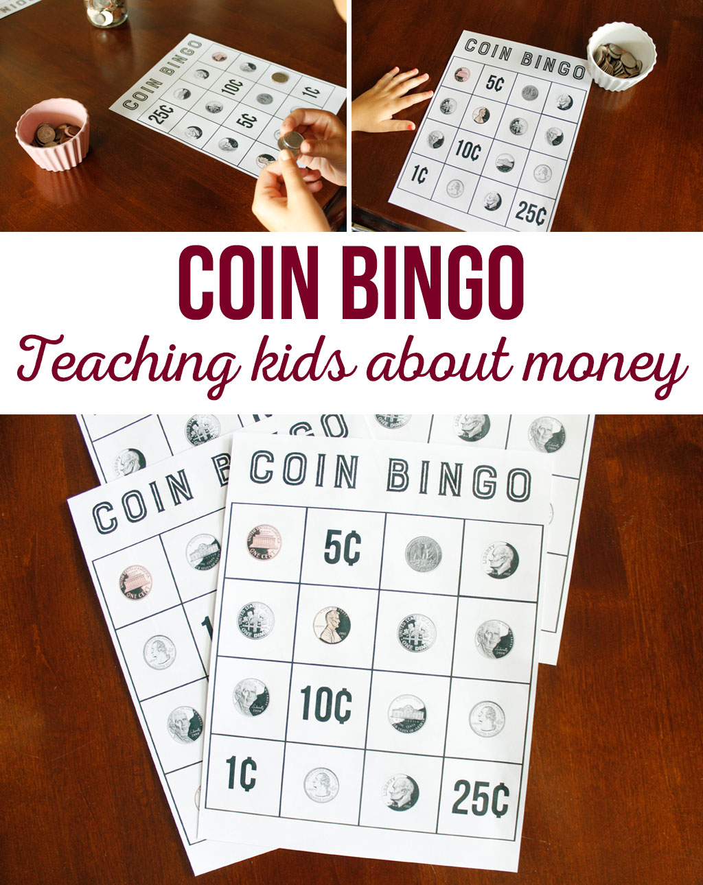 Coin Bingo Free Printable