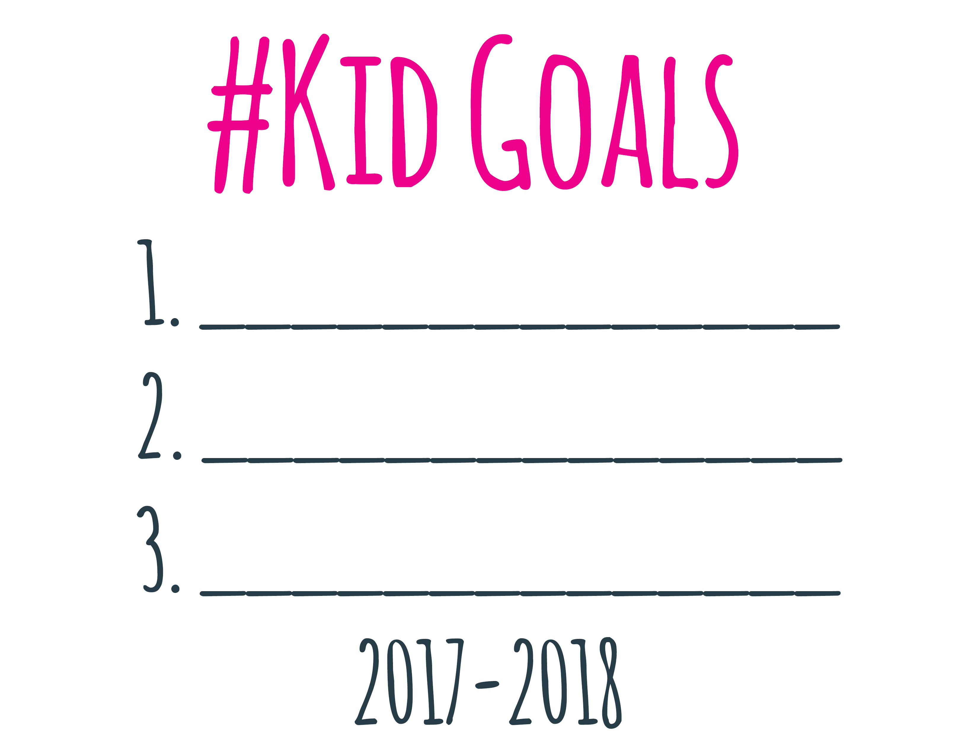 New Year Printable Goal Setting Worksheets Encouraging Notes Co Pincurl Girls Powering A