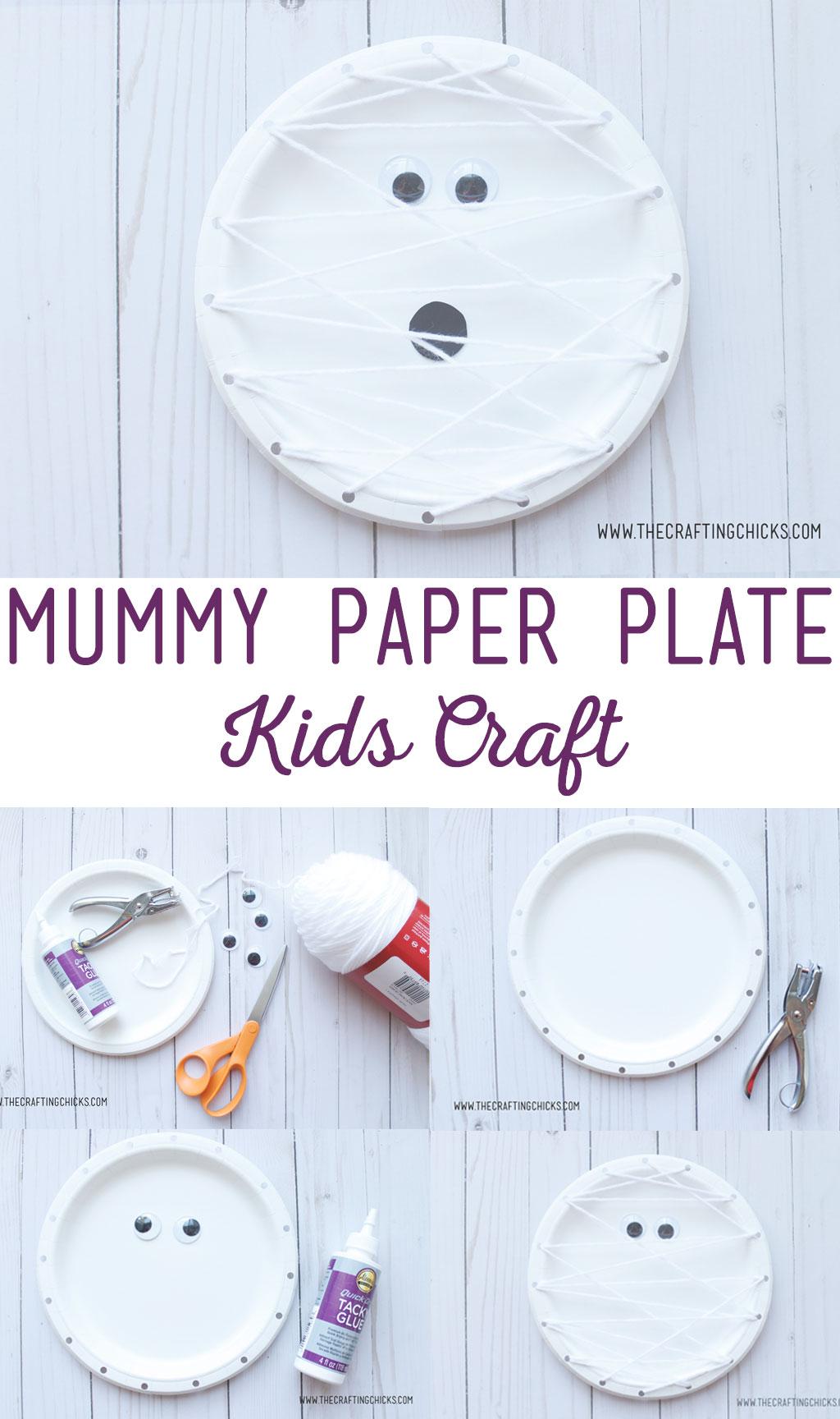 Mummy Paper Plate Kids Craft