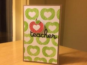 Teacher Appreciation Card - Front