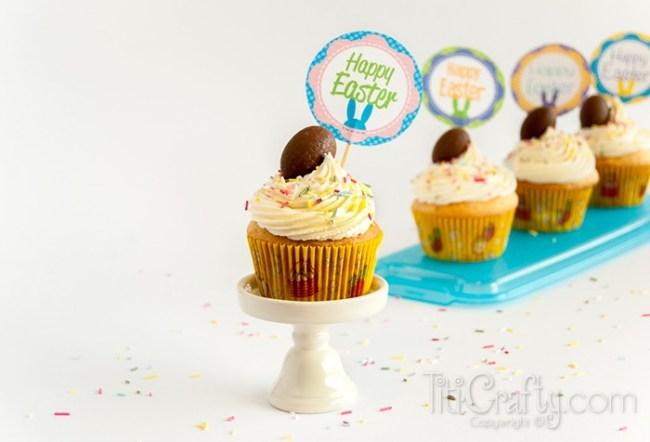 Easter-Almond-White-Chocolate-Cupcakes-with-Cadbury-Creme-Eggs-Recipe