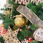 Rustic Red And Gold Christmas Tree 2020 The Crafting Nook