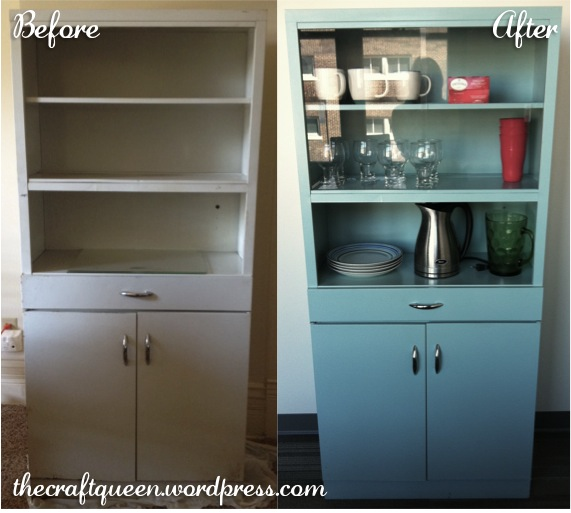 22. Before and After: Vintage Metal Cabinet (4/4)