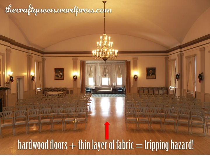 26. DIY Wedding: Monogrammed Aisle Runner (2/4)