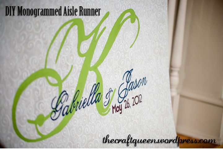 26. DIY Wedding: Monogrammed Aisle Runner (1/4)