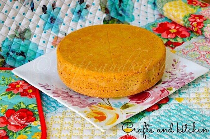 Vanilla sponge cake full