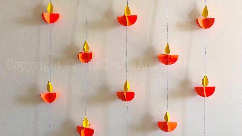 Diwali paper diyas