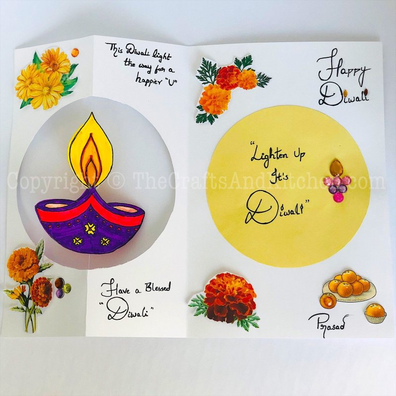 Spinning Diya Diwali Card