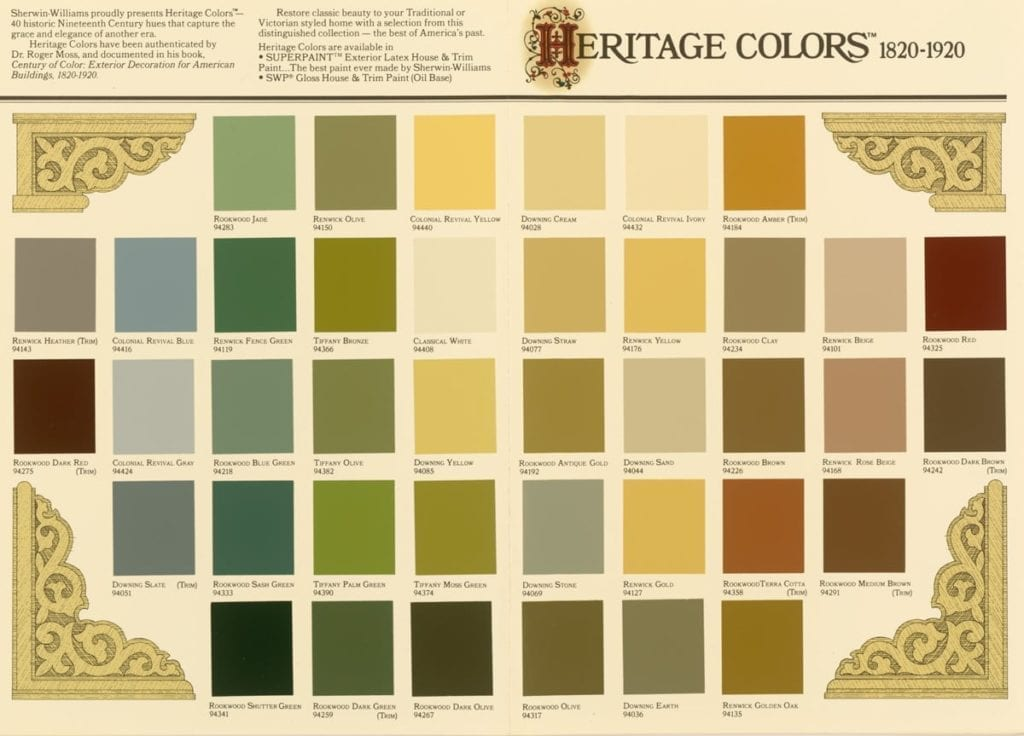Benjamin Moore Williamsburg Color Collection Historical Paint Colors