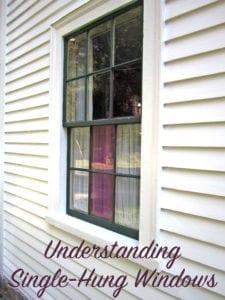understanding single-hung windows