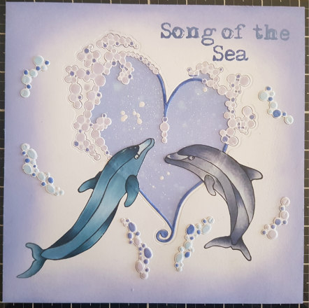 Card with Song of the Sea stamp