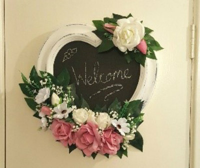 Up-cycled chalk board