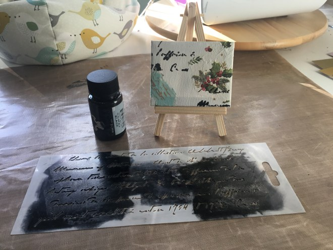 Using your stencil to create a background