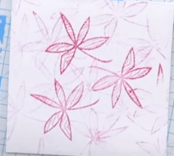 Foreground Flower Stamping