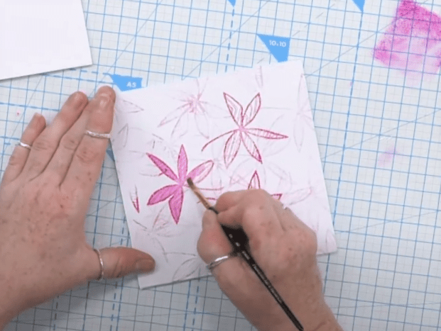 Colouring Flower Stamping