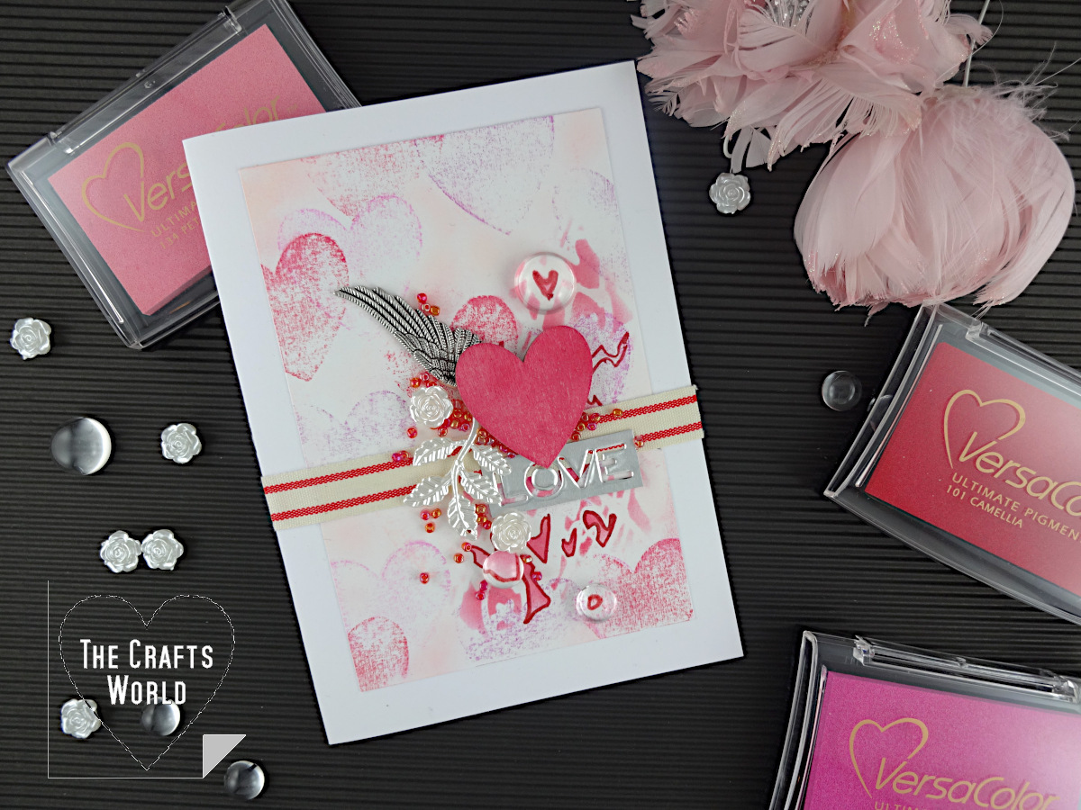 No Stamp Stamping Love Card