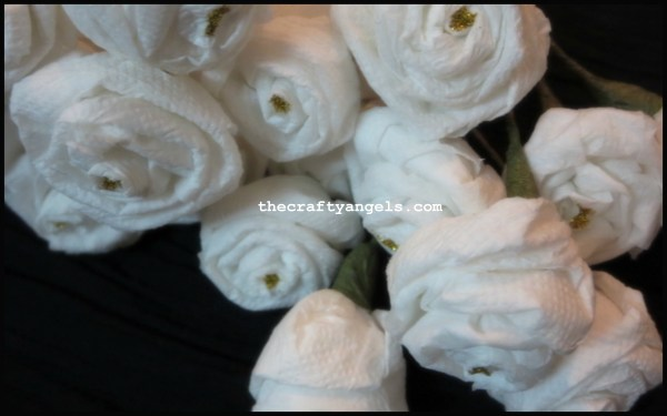 tissue paper rose flower tutorial d