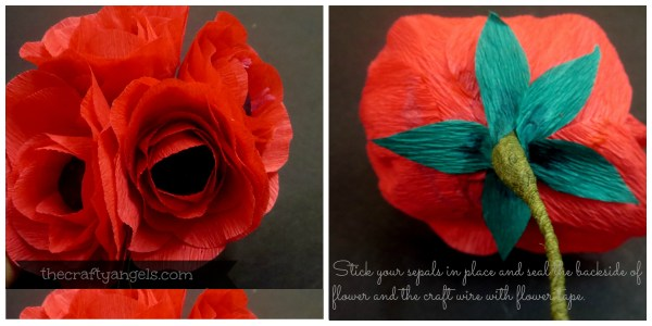 Crepe paper flower tutorial (6)